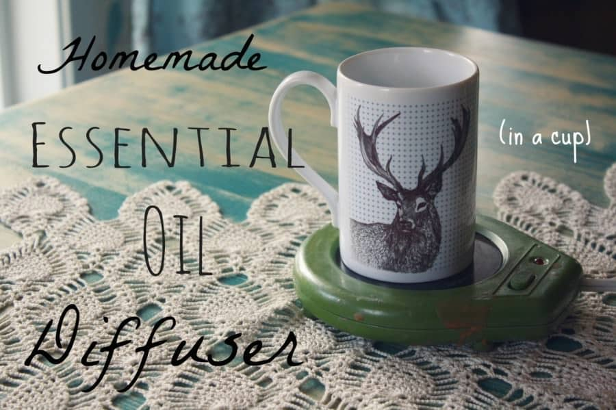DIY essential oil diffusers - cup and candle warmer