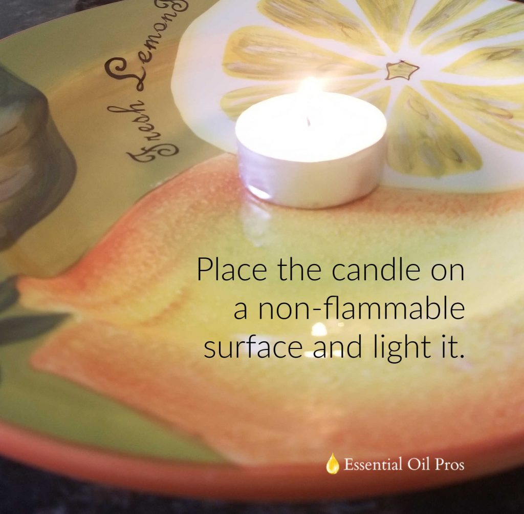 DIY essential oil votive candle