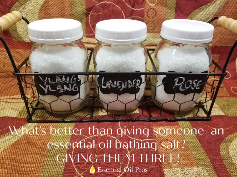essential oil bathing salt gift set
