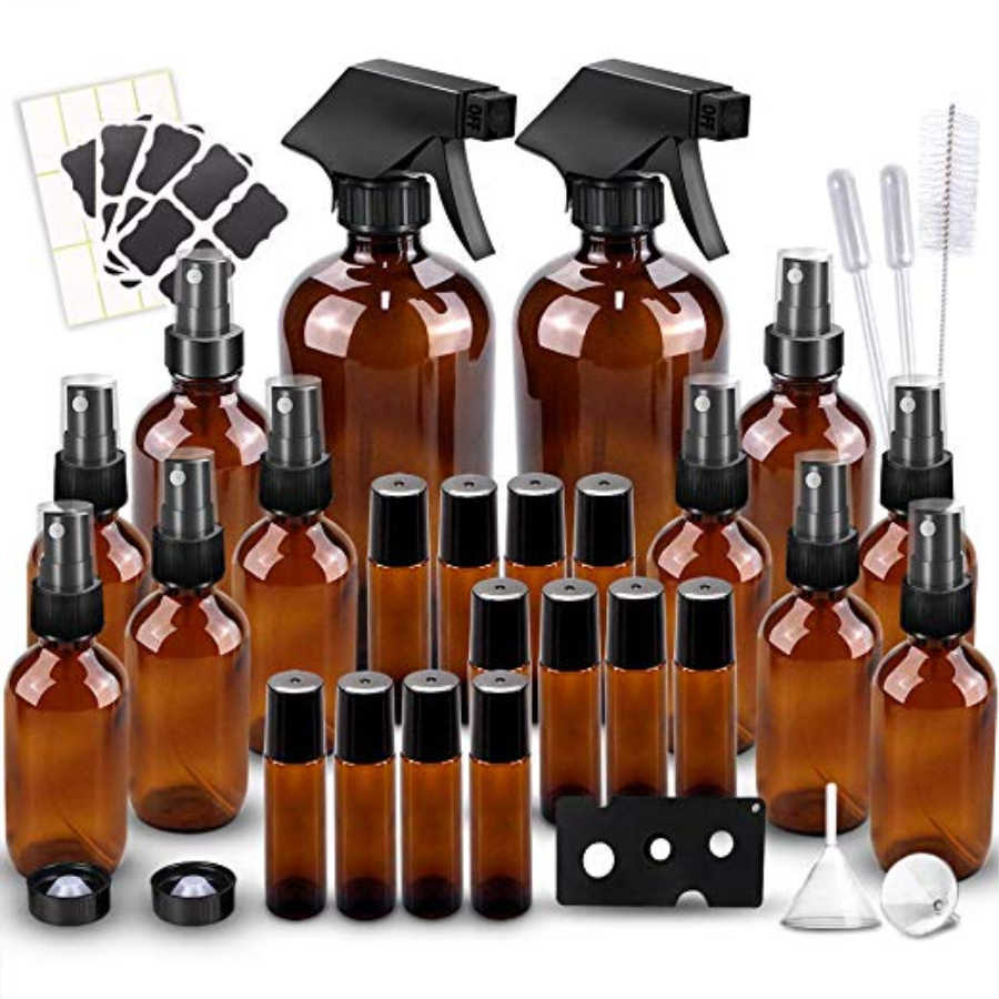 amber glass bottles for essential oils